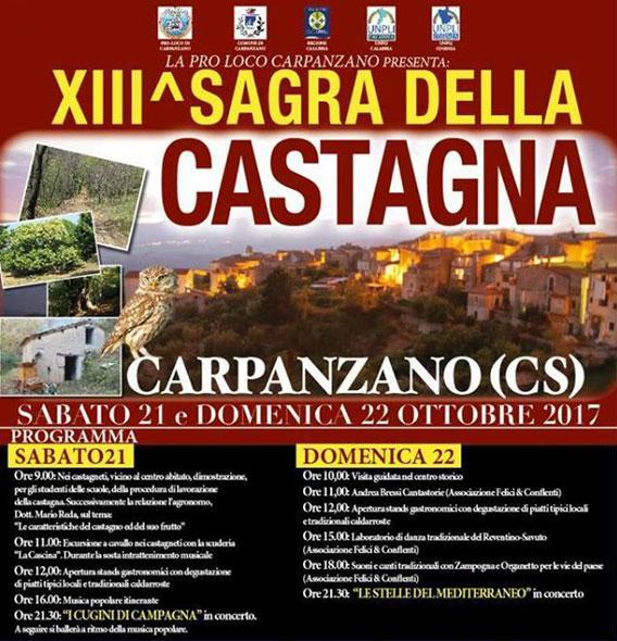 Sagra castagna Carpanzano